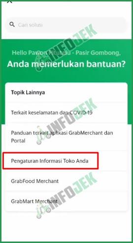 5 Pengaturan Informasi Toko