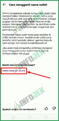 6 Kirim Email ke Gojek
