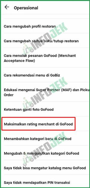 6 Pilih Maksimalkan Rating Merchant
