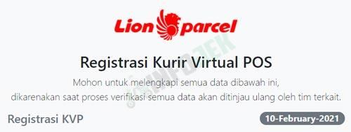 Buka Formulir Pendaftaran Lion Parcel