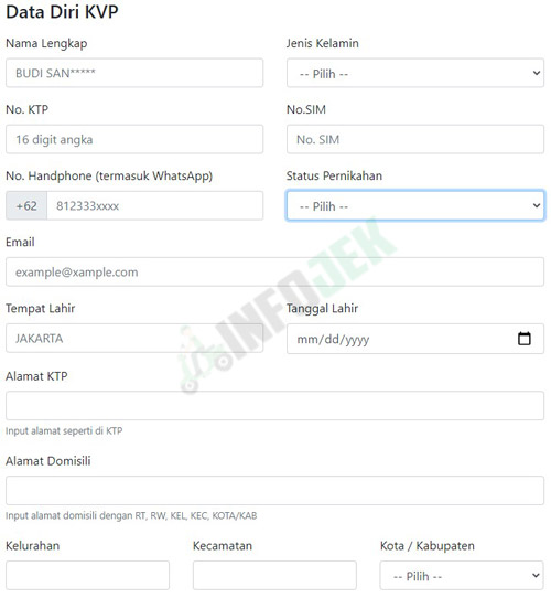 Lengkapi Data Diri Kurir Virtual Pos Lion Parcel