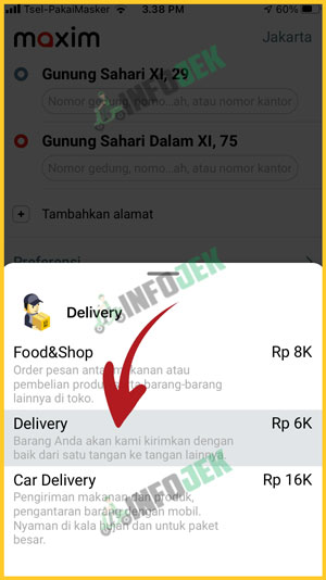 Pilih Delivery