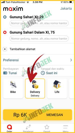 Pilih Layanan Delivery