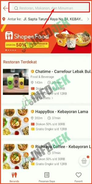 3 Cari dan Pilih Makanan