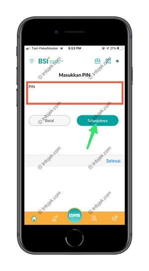 7 Masukan PIN BSI Mobile
