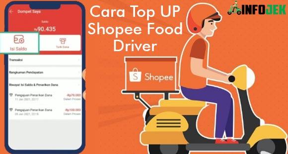 Cara Top Up Shopee Food Driver Terlengkap Semua Metode