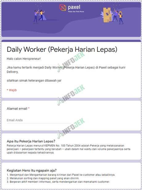1 Buka Link Formulir Pendaftaran