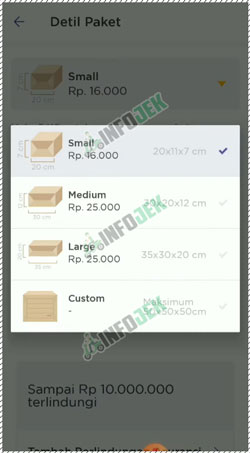 16 Pilih Detail Paket