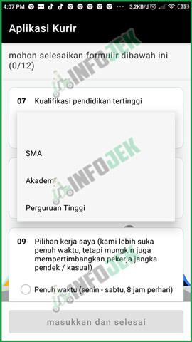 9 Pilih Pendidikan Terakhir