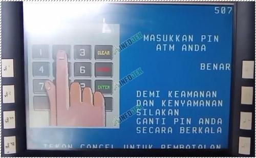 3 Masukan PIN ATM