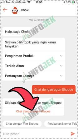 5 Pilih Chat dengan Agen Shopee