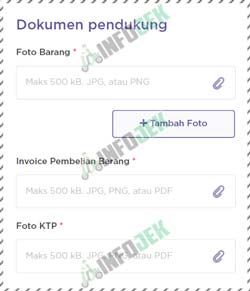 5 Upload Dokumen Pendukung