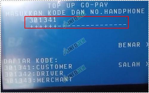 8 Masukan Kode Bank No HP