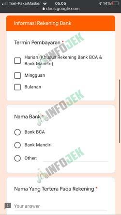 6 Lengkapi Informasi Rekening Bank