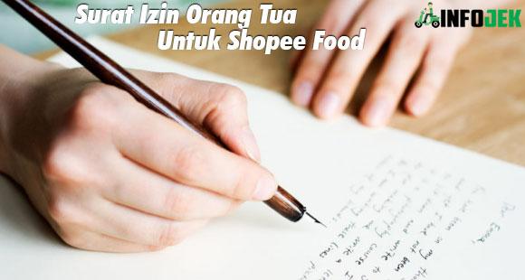 Surat Izin Orang Tua Untuk Shopee Food Kegunaan