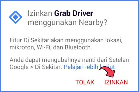 1 Beri Izin Aplikasi Grab Driver