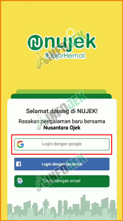 2 Pilih Login dengan Google