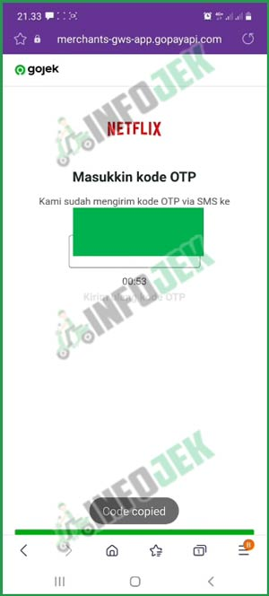 9 Masukkan Kode OTP