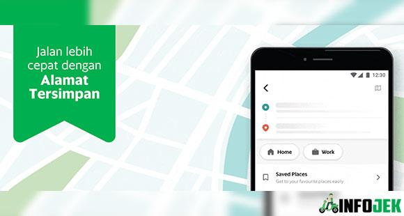 Alamat Tersimpan di Aplikasi Grab