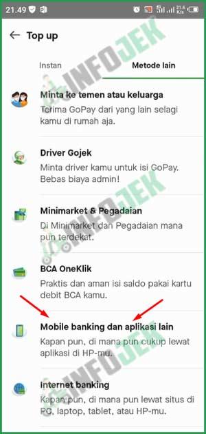 4 Pilih M Banking dan Aplikasi Lain