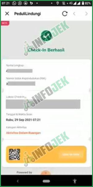 8 Check In Berhasil