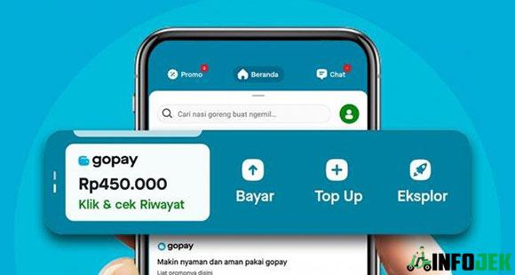 Minimal Top Up GoPay di M Banking BCA